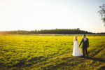 Brautpaar Sonnenuntergang Felder in Grefrath