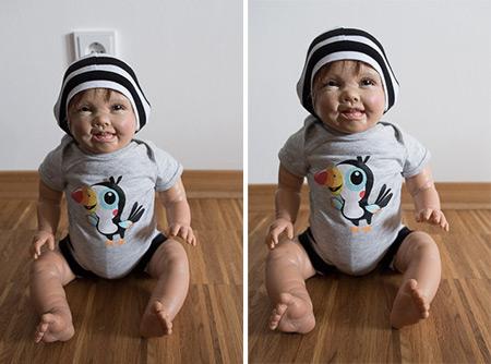 Collage Baby Steckdose Hintergrund sichtbar und versteckt