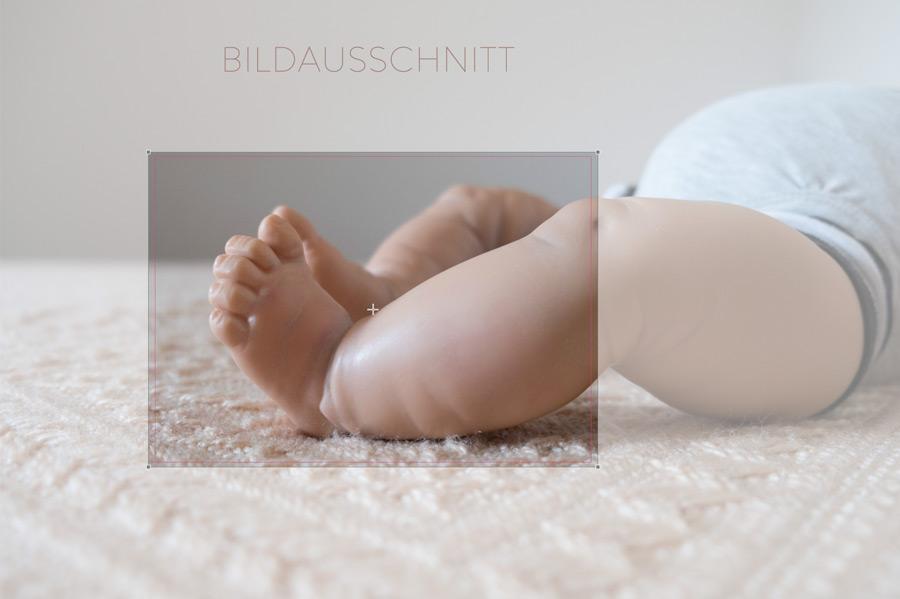 Bildausschnitt Babyfüße am PC