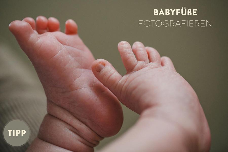 Babyfüße fotografieren beige Tipp
