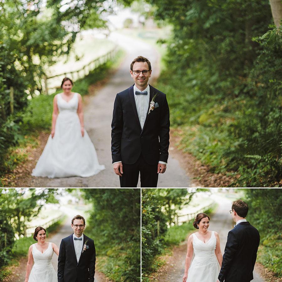 Erstes sehen von Braut und Bräutigam