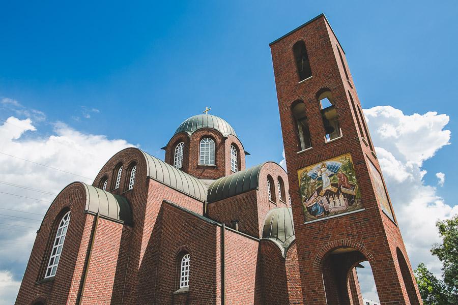 Die griechische Kirche in Düsseldorf von außen