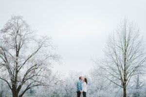 paar fotoshooting im winter in hanau