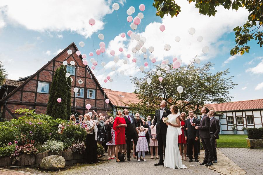 hochzeit Ballons steigen lassen münster