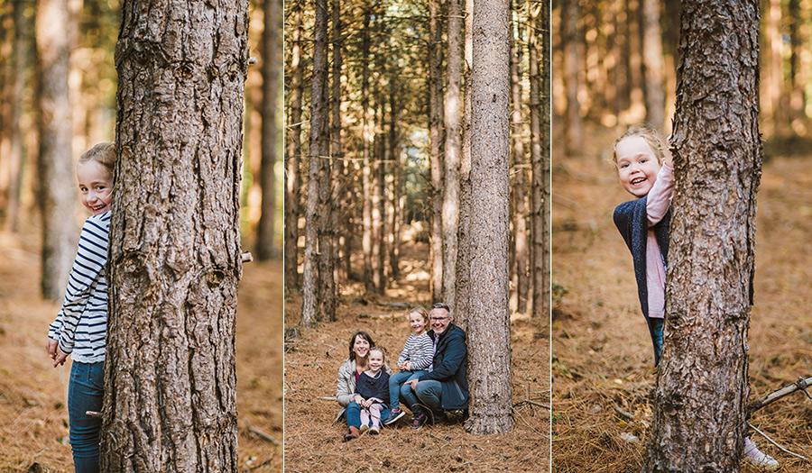 familienshooting outdoor im Herbst mit zwei Kindern