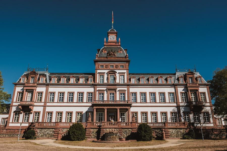 Schloss philippsruhe in Hanau von außen